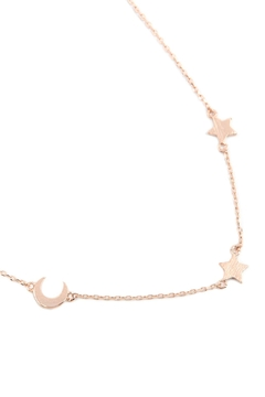 Riah Fashion Moon & Star Chain Necklace - Product List Image