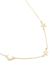 Riah Fashion Moon & Star Chain Necklace - Product Mini Image