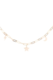 Riah Fashion Moon-Star-Thunder-Dainty-Brass-Chain-Necklace - Product Mini Image