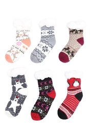 Riah Fashion Mopas Cozy-Duo-Layer-Crew-Socks-Christmas-Assorted-Set - Front cropped