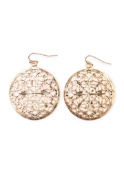 Riah Fashion Moroccan Circle Earrings - Product Mini Image