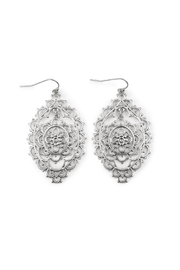 Riah Fashion Morrocan Tomb Earrings - Product Mini Image