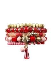 Riah Fashion Multi Bead Bracelet - Product Mini Image