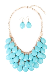 Riah Fashion Multi Beaded Necklace Set - Product Mini Image