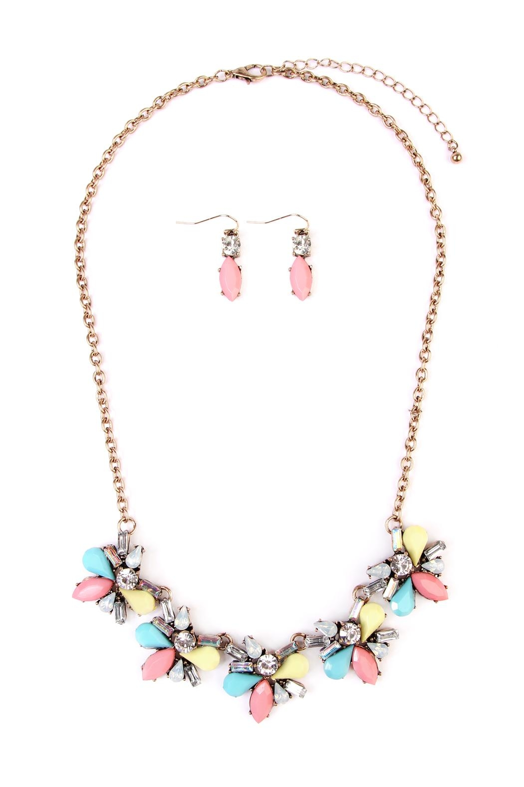 Riah Fashion Multi-Color  Necklace & Earring - Main Image