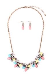 Riah Fashion Multi-Color  Necklace & Earring - Front cropped