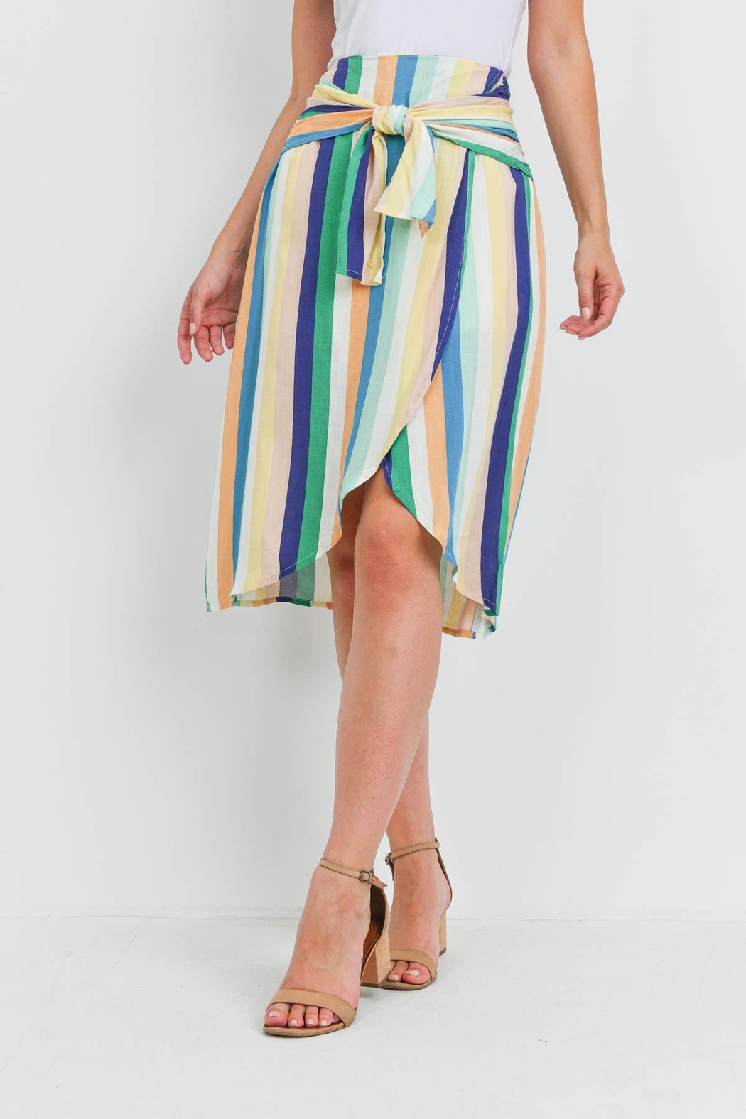 Riah Fashion Multi Color Skirt - Side Cropped Image