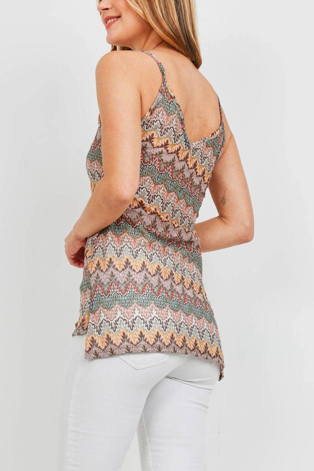 Riah Fashion Multi Color Top - Front Full Image