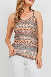 Riah Fashion Multi Color Top - Front cropped