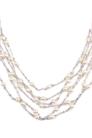 Riah Fashion Multi-Pearl Chain Necklace - Front full body
