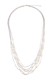 Riah Fashion Multi-Pearl Chain Necklace - Front cropped