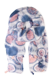 Riah Fashion Multi Printed Oblong Scarf - Front cropped