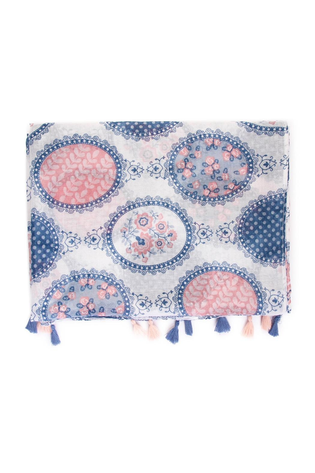 Riah Fashion Multi Printed Oblong Scarf - Front Full Image