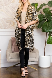 Riah Fashion Multi Size Leopard Print-Kimono - Product Mini Image
