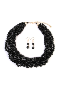 Riah Fashion Multi-Srand-Bubble-Choker Necklace-And-Earring-Set - Product List Image