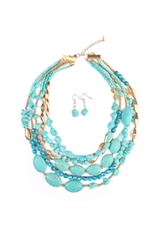 Riah Fashion Multi Strand Necklace Set - Front cropped