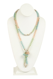 Riah Fashion Multi-Tone Glass-Beads-Necklace - Product Mini Image