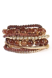 Riah Fashion Multicolor Beaded Stretch Bracelet - Product Mini Image