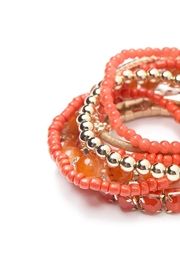 Riah Fashion Multicolor Beaded Stretch Bracelet - Front full body
