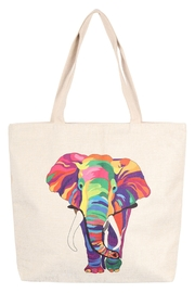 Riah Fashion Multicolor-Elephant-Tote-Bag - Product Mini Image