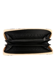 Riah Fashion Multicolor Feather Wallet - Front full body