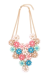 Riah Fashion Multicolor Floral Necklace - Product Mini Image