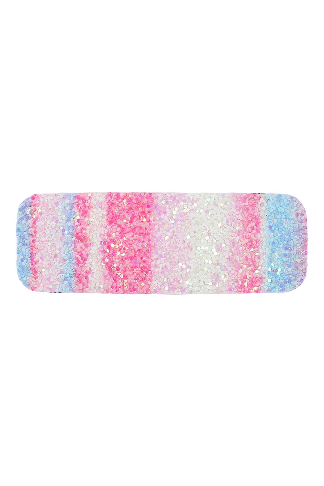 Riah Fashion Multicolor Sequined Rectangle Hair Clip Set - Back Cropped Image