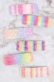 Riah Fashion Multicolor Sequined Rectangle Hair Clip Set - Other
