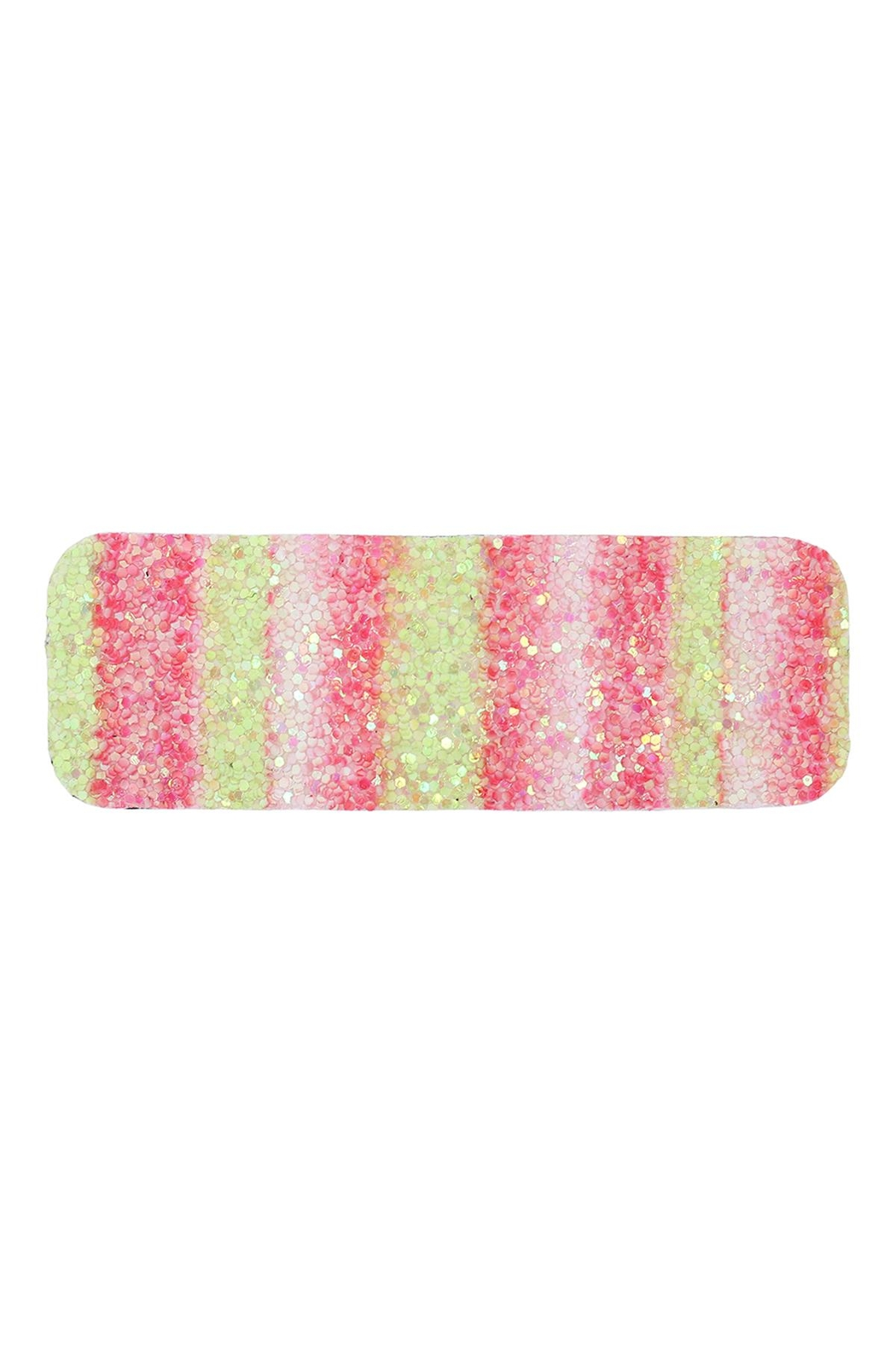 Riah Fashion Multicolor Sequined Rectangle Hair Clip Set - Front Full Image
