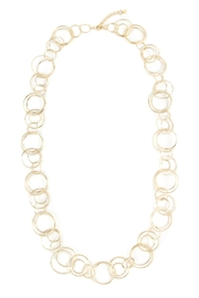 Riah Fashion Multiple Linked Hoop-Necklace - Front cropped