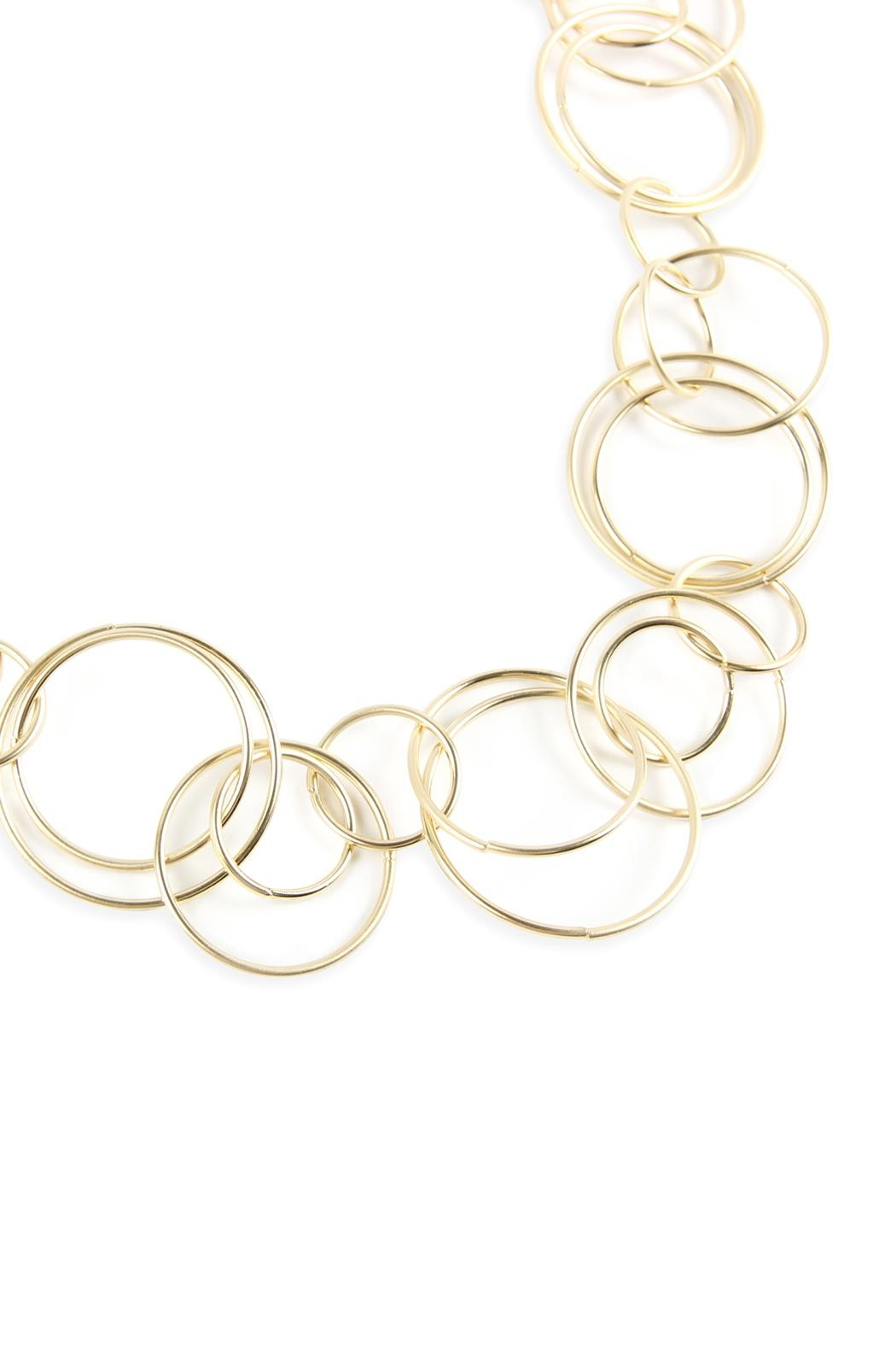 Riah Fashion Multiple Linked Hoop-Necklace - Front Full Image