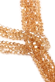 Riah Fashion Multistrand Rondelle-Beads-Necklace - Front full body
