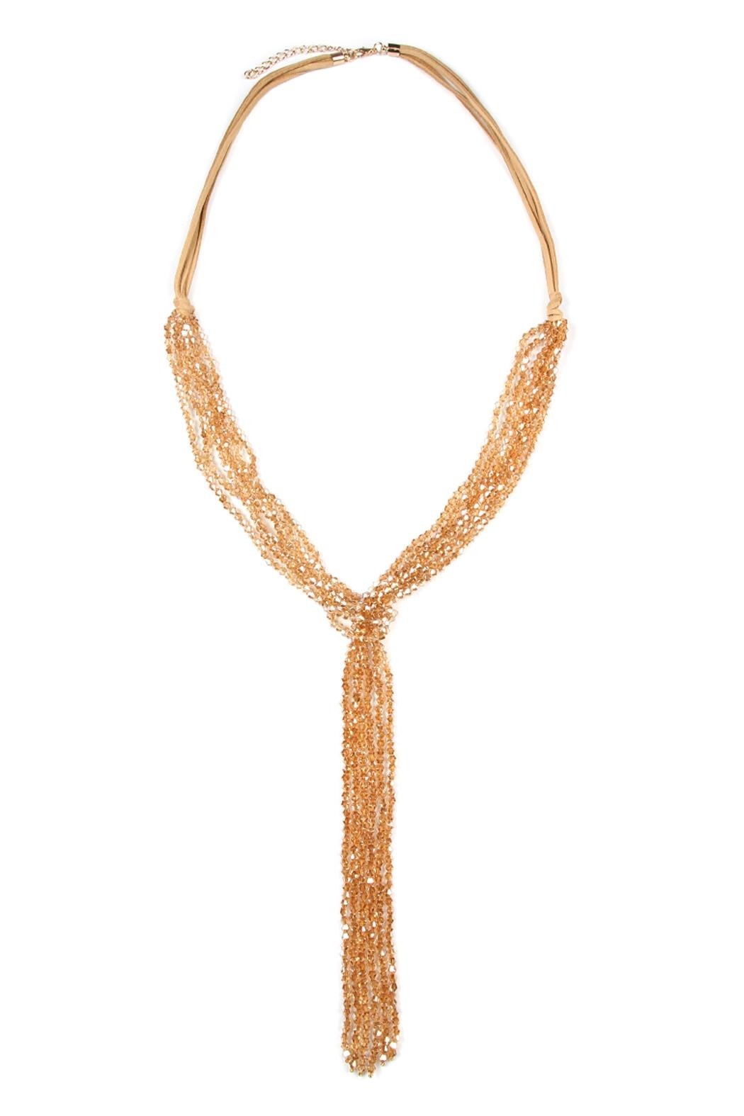 Riah Fashion Multistrand Rondelle-Beads-Necklace - Front Cropped Image