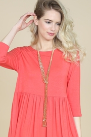 Riah Fashion Multistrand Rondelle-Beads-Necklace - Back cropped