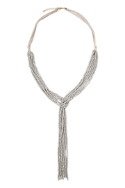 Riah Fashion Multistrand Rondelle-Beads-Necklace - Front cropped