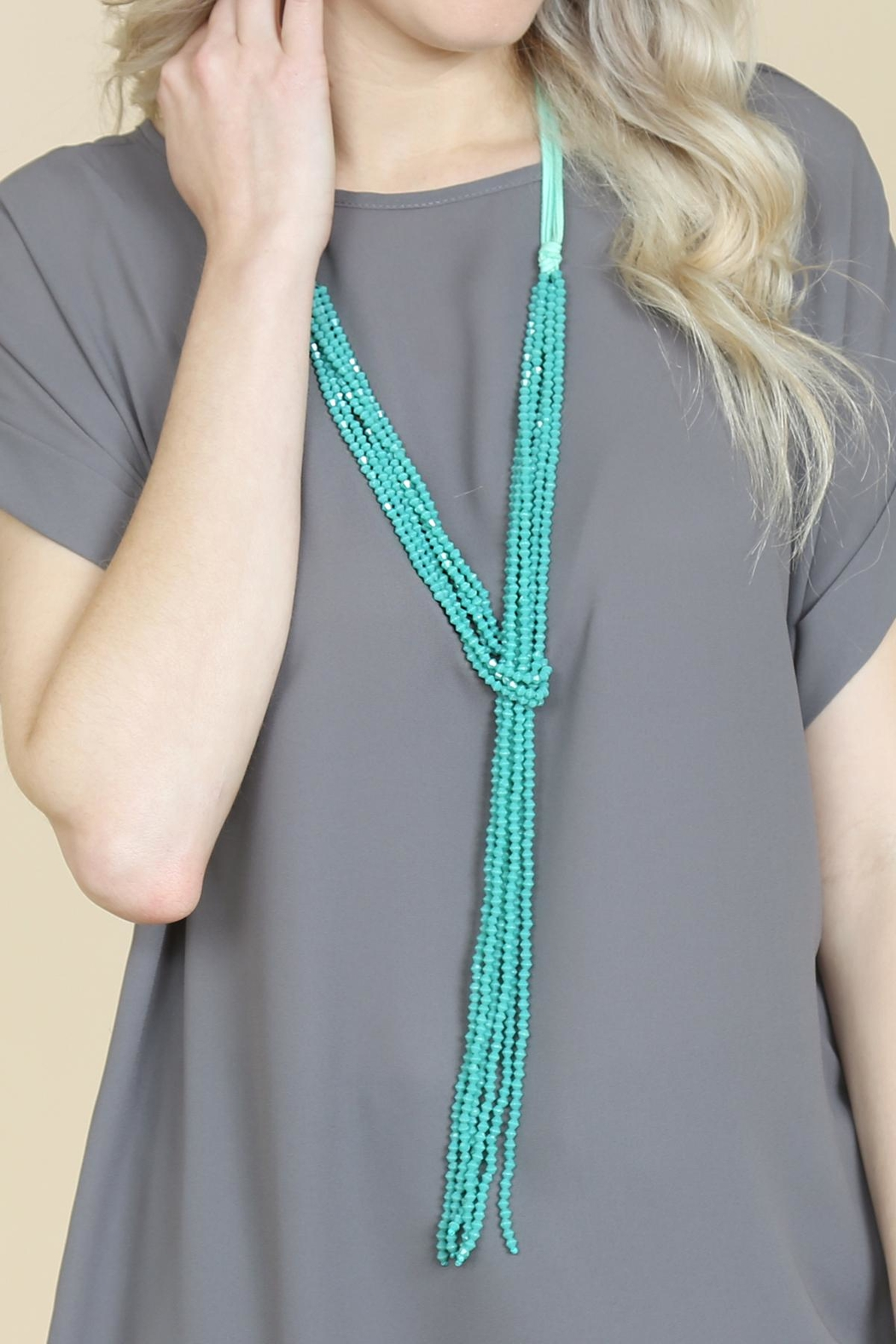 Riah Fashion Multistrand Rondelle-Beads-Necklace - Side Cropped Image