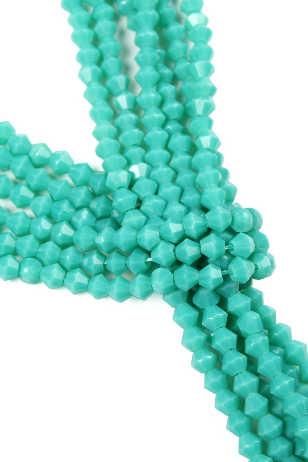 Riah Fashion Multistrand Rondelle-Beads-Necklace - Front Full Image