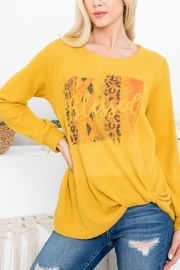 Riah Fashion Mustard Blessed Top - Product Mini Image