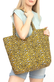 Riah Fashion Mustard-Leopard-Print-Tote-Bag - Product Mini Image