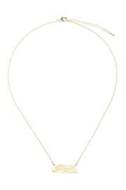 Riah Fashion My-Body-My-Choice Message Necklace - Front cropped