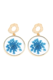 Riah Fashion Natural Flower-Acetate Drop-Earrings - Product Mini Image