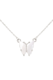 Riah Fashion Natural-Mop-Butterfly-Pendant-Necklace - Product Mini Image