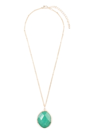 Riah Fashion Natural-Stone Delicate Pendant-Necklace - Front cropped