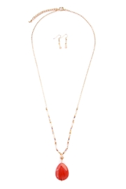 Riah Fashion Natural Stone-Drop Necklace - Product Mini Image