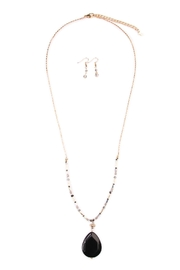 Riah Fashion Natural Stone Drop Necklace - Product Mini Image