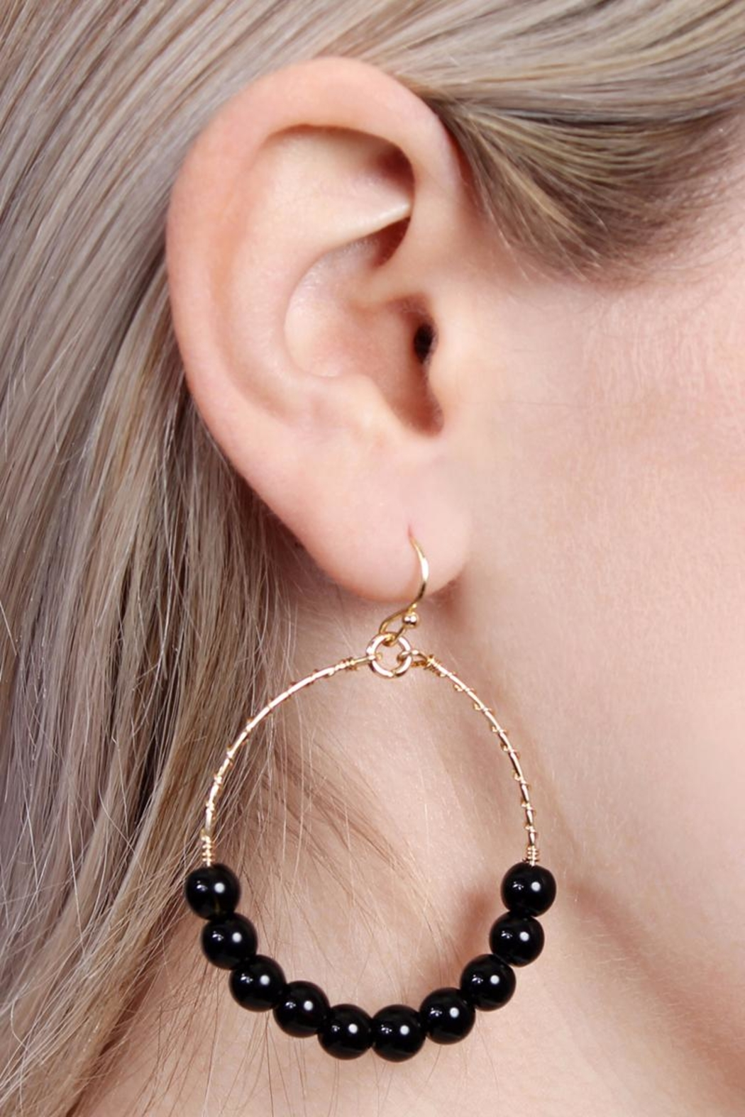 Riah Fashion Natural Stone Earrings - Front Full Image