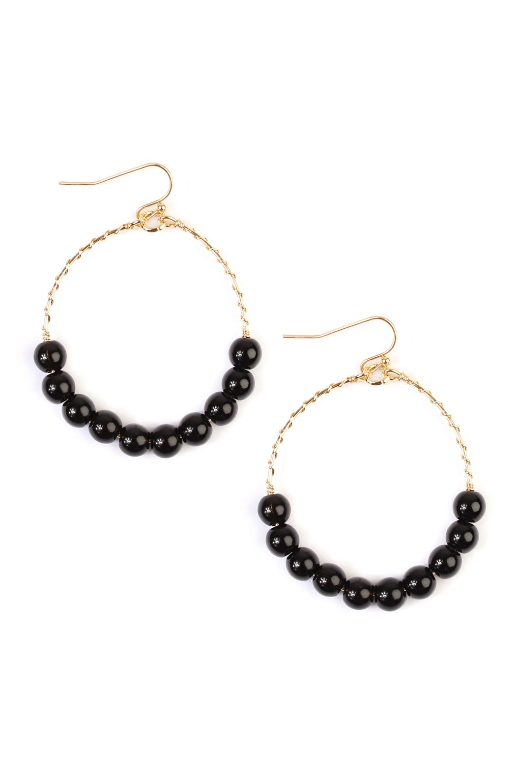 image earrings products riah fashion shoptiques front natural california from l stone black cropped