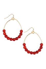 Riah Fashion Natural Stone Earrings - Front cropped