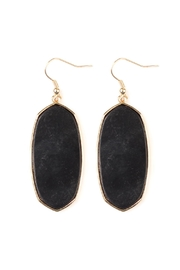 Riah Fashion Natural Stone Hook-Earrings - Product Mini Image