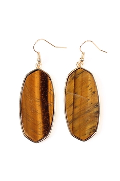 Riah Fashion Natural Stone Hook-Earrings - Product List Image